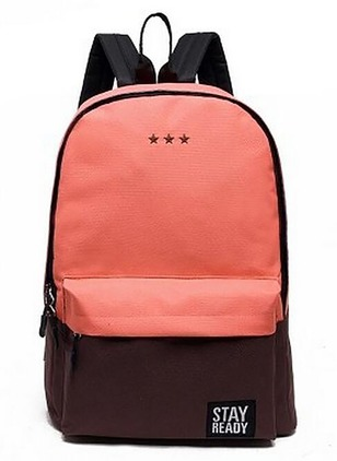 Backpacks Color Block Polyester Zipper Adjustable Bags