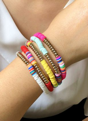 Casual Round No Stone Bangle Bracelets (4072086)