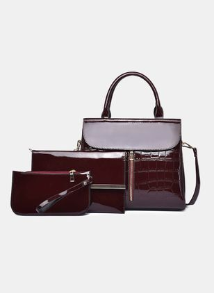 Bag Sets Fashion Zipper Double Handle Bags (4041073)