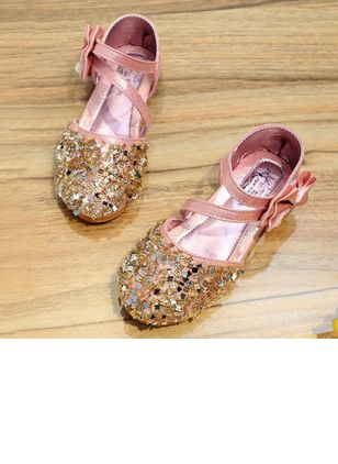 Girls' Bowknot Sparkling Glitter Party & Evening Girls' Shoes
