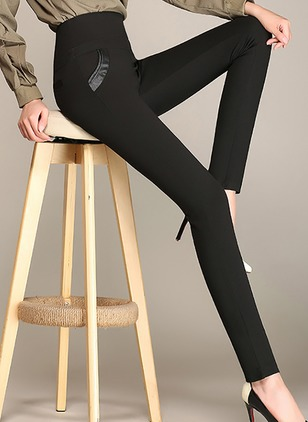 Skinny Cotton Blends Leggings Pants & Leggings