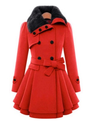 Polyester Long Sleeve Other Sashes Peacoats Coats