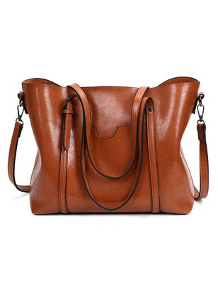 Shoulder PU Double Handle Bags