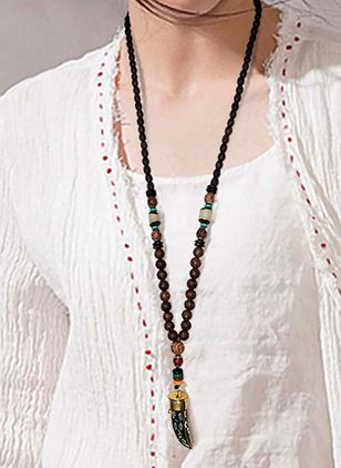 Casual Ball Gemstone Pendant Necklaces (4048211)