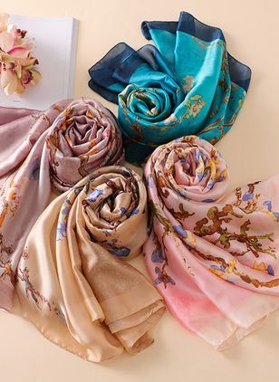 Casual Floral Scarves (106367459)