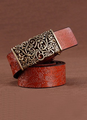 Casual PU Metal Floral Belts