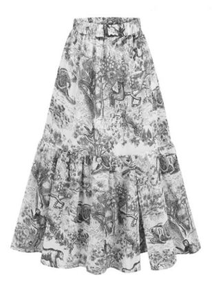 Floral Maxi Casual Pattern Skirts (147152044)