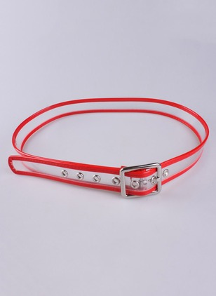 Casual Polyester Solid Color Block Belts