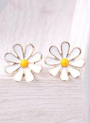 Cute Floral No Stone Dangle Earrings (101398888)