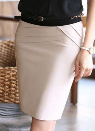 Solid Above Knee Sexy Sashes Skirts