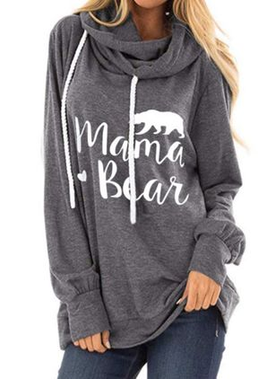 Djur Alldaglig Hooded Sweatshirtar (5715871)