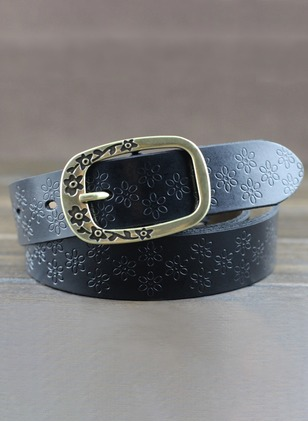 Leatherette Floral Belts