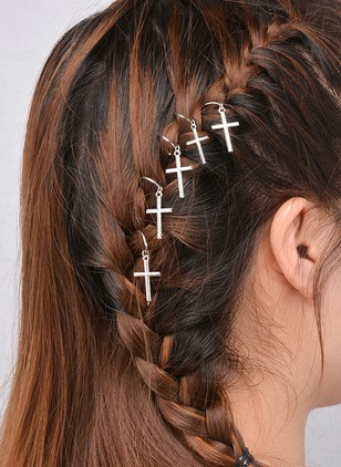Cross Round Hair Accessories Single