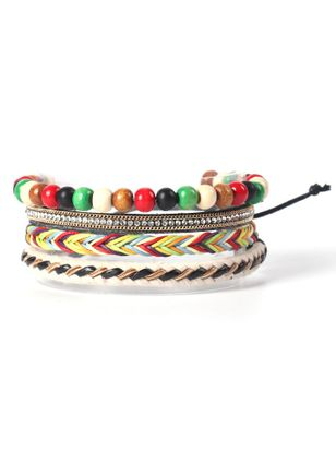 Casual Round No Stone Beaded Bracelets (6211653)