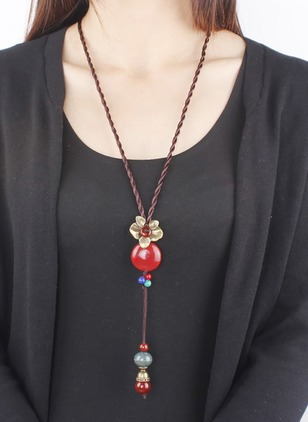 Floral Gemstone Pendant Necklaces