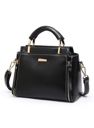 Shoulder Fashion Zipper Convertible Bags (101987462)