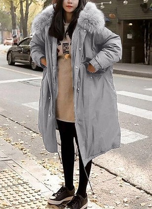 Cotton & Cotton Blend Long Sleeve Lapel Coats