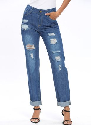 Women's Straight Jeans Pants (4047186)