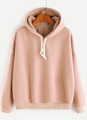 Solid Hooded Sweatshirts