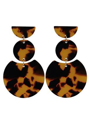 Round No Stone Dangle Earrings