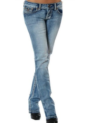 Bootcut Cotton Jeans Pants & Leggings