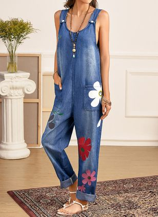 Women's Straight Jeans Jumpsuits (4040420)