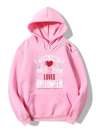 Alfabet Halloween Hooded Fickor Sweatshirtar (108858391)