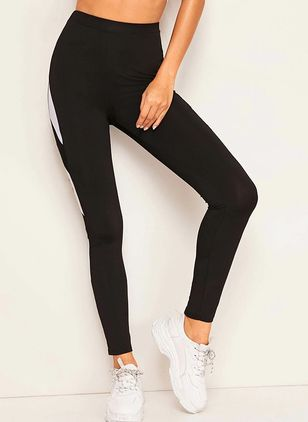 Women's Casual Polyester Yoga Pants Fitness & Yoga (108088818)