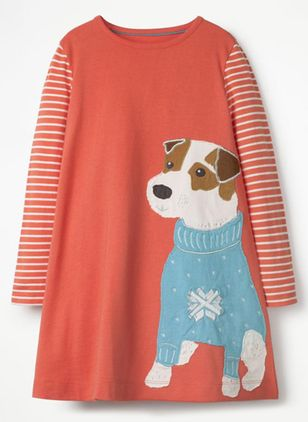 Girls' Cute Animal Daily Long Sleeve Dresses