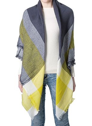 Casual Color Block Scarves (109973780)