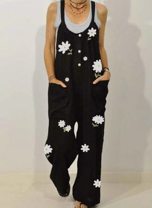 Women's Straight Pants Jumpsuits (2200252)