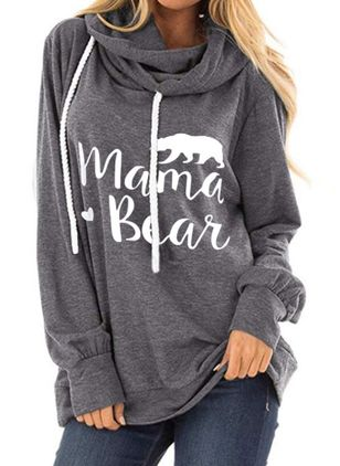 Alfabet Casual Hooded Sweaters (4448374)