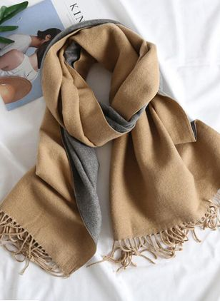 Casual Color Block Scarves (106367451)
