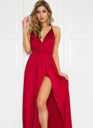Sexy Solid Others Maxi A-line Dress (1012221)