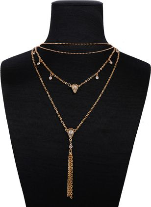 Tassel Crystal Pendant Necklaces