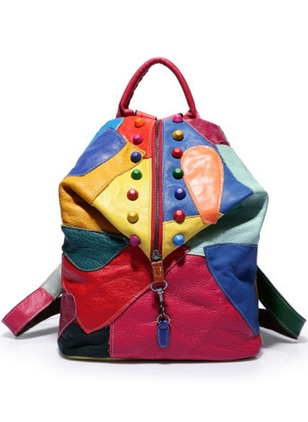 Backpacks Real Leather Zipper Bags