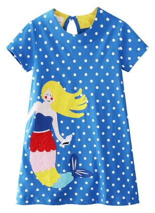 Girls' Sweet Cartoon Going Out Short Sleeve Dresses