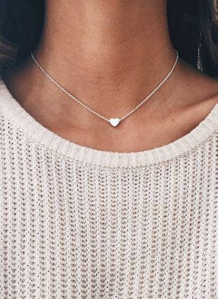 Casual Heart No Stone Pendant Necklaces (4071826)