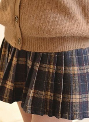 Tartan Mini Cute Ruffles Skirts