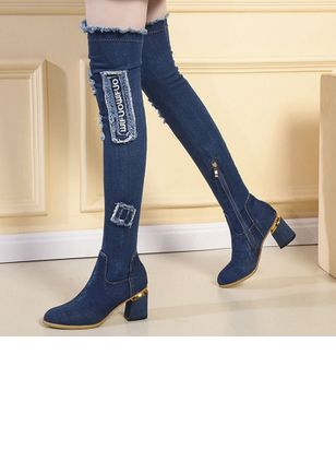Denim Shoes With Zipper (5715864)