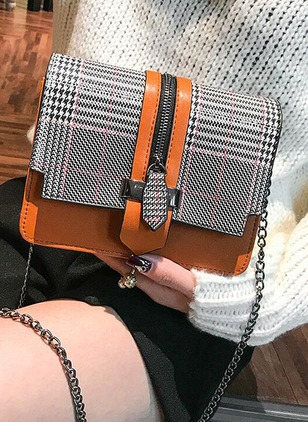 Shoulder PU Zipper Chain Bags
