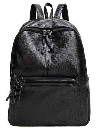 Backpacks Fashion PU Zipper Convertible Bags