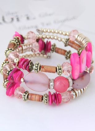 Casual Ball No Stone Beaded Bracelets (147145163)