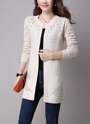 3/4 Sleeves Round Neck Coats