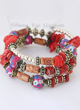 Vintage Ball No Stone Beaded Bracelets (107520004)