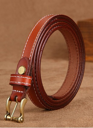 Leatherette Color Block Belts