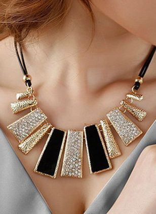Club Geometric No Stone Pendant Necklaces (1530159)