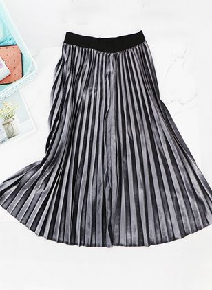 Solid Maxi Casual Skirts (6211470)