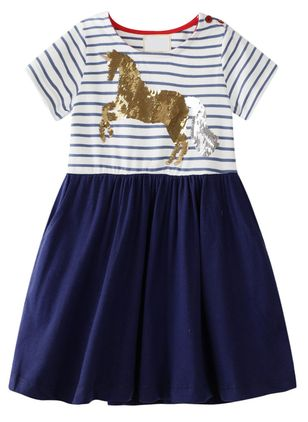 Girls' Casual Animal Going Out Short Sleeve Dresses