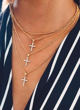 Cross Crystal Pendant Necklaces